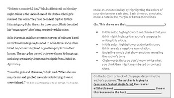Close Reading Drills: Annotation Stations