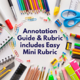 Annotation Guide & Full Rubric + Mini Rubric (Great for AP