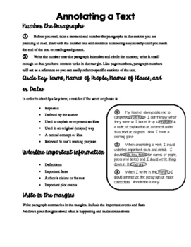 Annotation Guide for Middle/High School Students