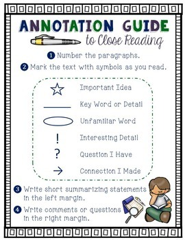 annotation guide to close reading by firm foundations in education. Black Bedroom Furniture Sets. Home Design Ideas