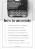 Annotation Handout