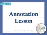 Annotation Lesson