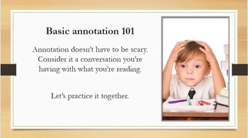 Annotation Lesson for Secondary Grades