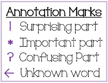 Annotation Marks for Close Reading