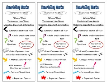 Annotation Marks Bookmarks