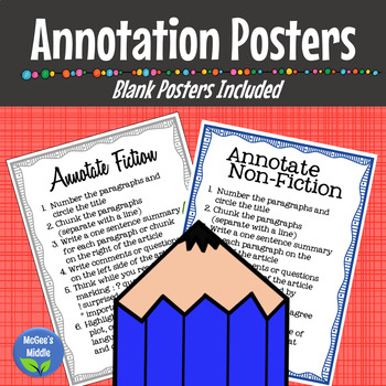 Annotation Poster Fiction and Non-ficiton