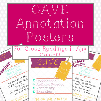 Annotation Posters C.A.V.E. strategy
