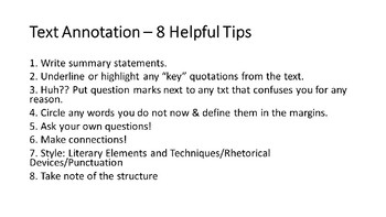 Annotation Practice