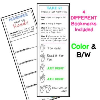 Annotation & Reading Comprehension Bookmarks