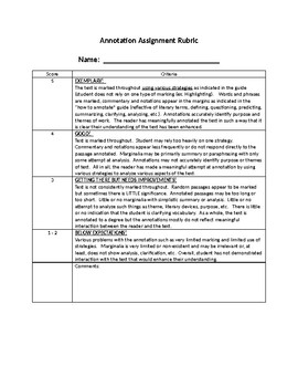 Annotation Rubric