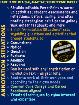 Annotation Situations - Huge Annotation & Independent Reading Response Bundle
