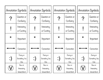 Annotation Symbol Bookmarks