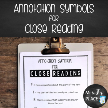 Annotation Symbols for Close Reading