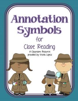 Annotation Symbols for Close Reading - Basic