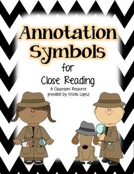 Annotation Symbols for Close Reading - Black and White Chevron
