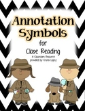 Annotation Symbols for Close Reading - Black and White Chevron
