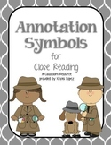 Annotation Symbols for Close Reading - Gray Moroccan