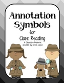 Annotation Symbols for Close Reading - Gray Ombre