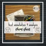 Annotation & Text Analysis Cheat Sheet