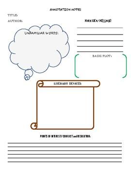 Annotation Worksheet