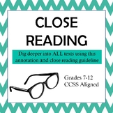 Annotation and Close Reading Guide