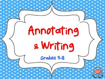 Annotation and Writing
