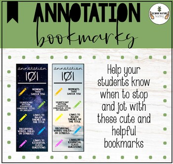 Annotation bookmarks for students