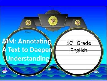 Annotation presentation