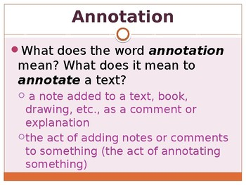 Annotations PowerPoint