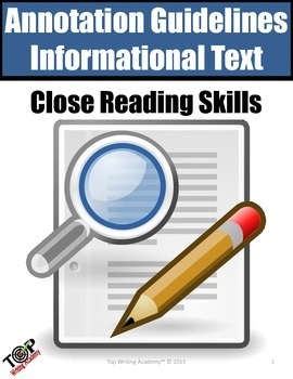 Annotation and Close Reading Guidelines Nonfiction