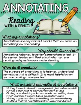 Annotations and Turn & Talk Reading Anchor Charts