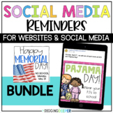 EDITABLE Social Media Reminders and Announcements BUNDLE D