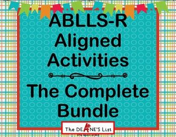 ABLLS-R  ALIGNED ACTIVITIES The Complete Bundle Preview