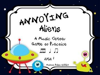 Annoying Aliens: A Center Game to Practice Tika-Tika, Ta,
