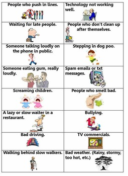 Annoying Things Lesson Plan & PPTs