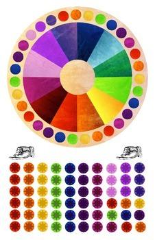 Annual Calendar Ring - Montessori Inspired - Rainbow Watercolors