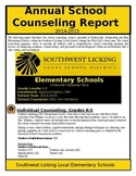 School Counseling Data Report - Annual & Monthly Counseling Data