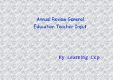 Annual Review General Education Teacher input