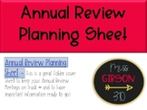 Annual Review Planning Sheet