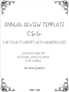 Annual Review Template: CSE