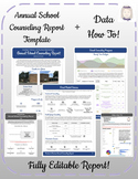 Annual School Counseling Report Template & Data How To