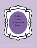 Annual Student Achievement Record