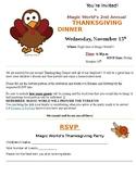 Annual Thanksgiving Dinner Invitation