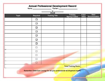 Annual Training Record