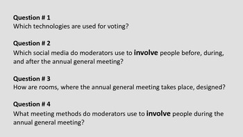 Annual general meeting innovation
