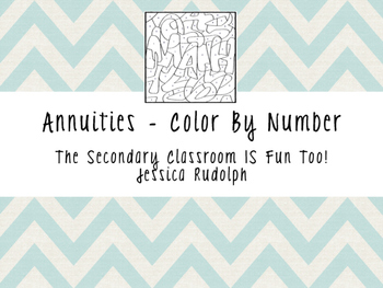 Annuities (Present & Future Value) - Color By Number
