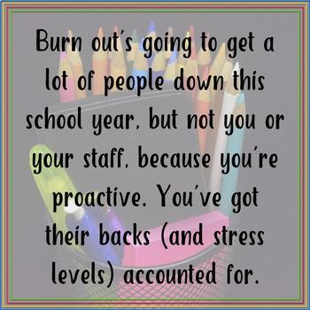 Back to School: Anonymous Teacher Motivation Program for Burn Out Prevention