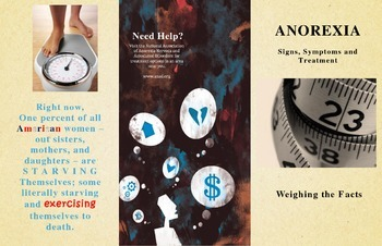 Anorexia Information Pamphlet / Brochure
