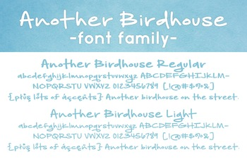 Another Birdhouse Font Family for Commercial Use
