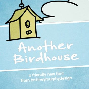 Another Birdhouse Font for Commercial Use